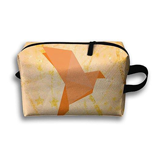 Origami Bird Oxford Travel Toiletries Bag Sturdy Organizer Cosmetic Handbag For Women Men - Sunglasses Origami