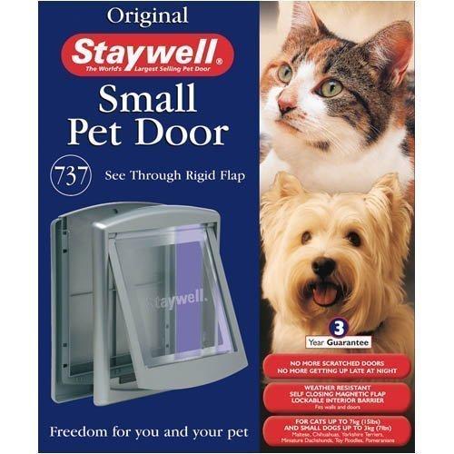 (Staywell 737 Cat Small Dog Pet Door Flap Lockable Grey )