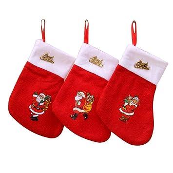 SPFAZJ Decoraciones de Navidad Calcetines Rojo no Tejido Calcetines Navidad Regalo Bolsas Santa Bolsas Navidad Calcetines: Amazon.es: Jardín