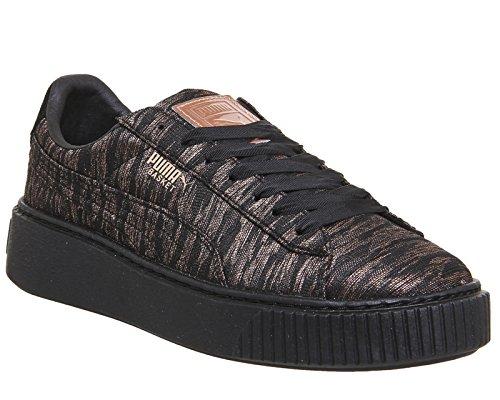 Puma Basket Platform VR, Sneakers Basses Femme Noir