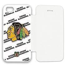 NHL Chicago Blackhawks Apple iPhone 5/5S/5SE Flip Cover Case - White O160305w