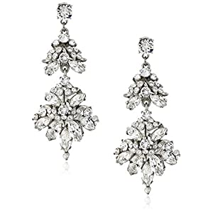 Ben-Amun Jewelry Swarovski Crystals Statement Drop Earrings