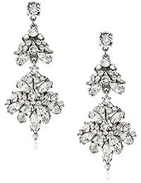 Swarovski Crystals Statement Drop Earrings