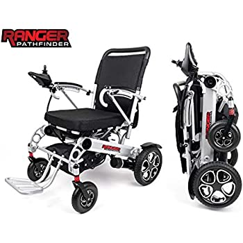 Porto Mobility Ranger X6 Fold & Travel Premium Folding Electric Wheelchair, Airline Approved, Lightweight All Terrain Power Scooter, Heavy Duty, ...