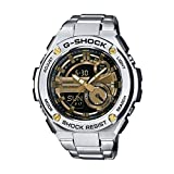 G-Shock GST-210D-9A G-Steel Series Luxury Watch - Silver/Gold / One Size
