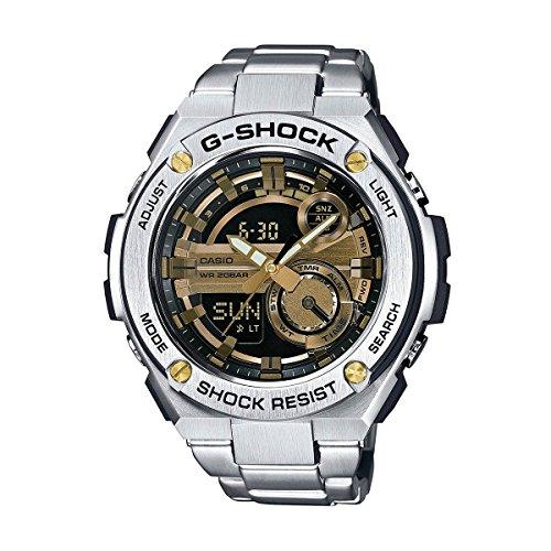 G-Shock GST-210D-9A G-Steel Series Luxury Watch - Silver/Gold / One Size by Casio