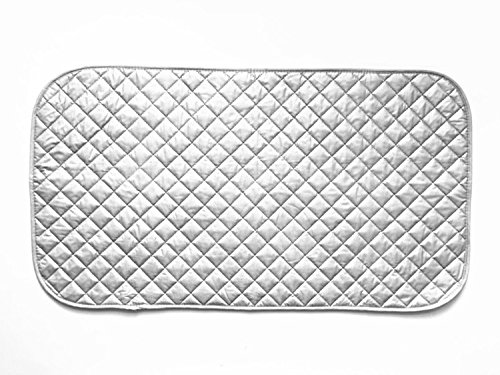 FU GLOBAL Magnetic Ironing Mat 19x33.5 Inch Quilted Ironing Blanket Grey Tabletop Ironing Pad (Quilting Iron Mat compare prices)