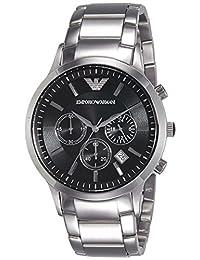 Emporio Armani Men's AR2434 Chronograph Stainless Steel Black Dial Watch