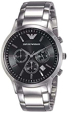 emporio armani men 39 s ar2434 dress silver watch. Black Bedroom Furniture Sets. Home Design Ideas