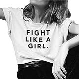 LOOKFACE Teen Girls Summer Street Tee Graphic T Shirt For Women White Small