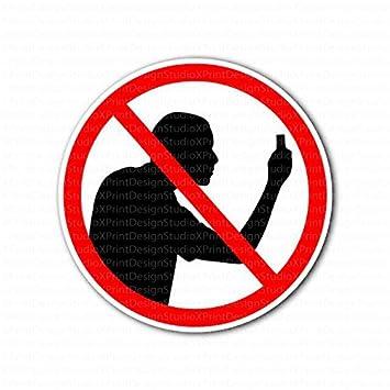 Amazon.com : No Photo Taking No Cameras Allowed Sign Sticker ...