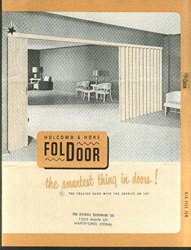 Holcomb & Hoke FolDoor Folding Door brochure 1950 Indianapolis IN