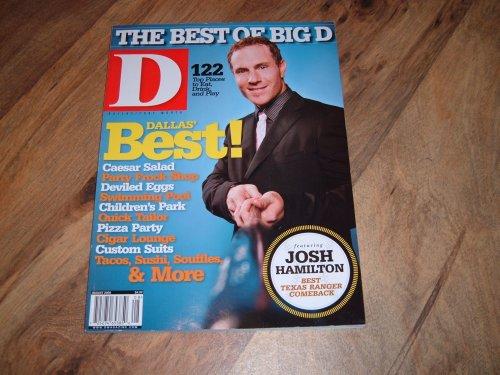 D Magazine (Dallas/Fort Worth) August 2008 issue-Josh Hamilton-Texas Rangers Baseball