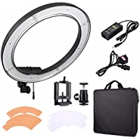 EACHSHOT ES240 Kit, Including Light, Phone Clamp, Tripod Head  240 LED 18 Stepless Adjustable Ring Light Camera Photo/Video Portrait photography 240pcs LED 5500K Dimmable (without Light Stand)