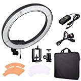EACHSHOT ES240 Kit, {Including Light, Phone Clamp, Tripod Head } 240 LED 18'' Stepless Adjustable Ring Light Camera Photo/Video Portrait photography 240pcs LED 5500K Dimmable (without Light Stand)