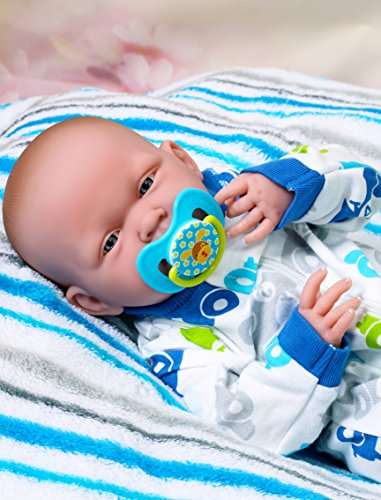 "My Handsome Baby Boy Berenguer Realistic 15"" Anatomically Correct Real Soft Vinyl Washable Preemie Life Like Reborn Pacifier Doll"
