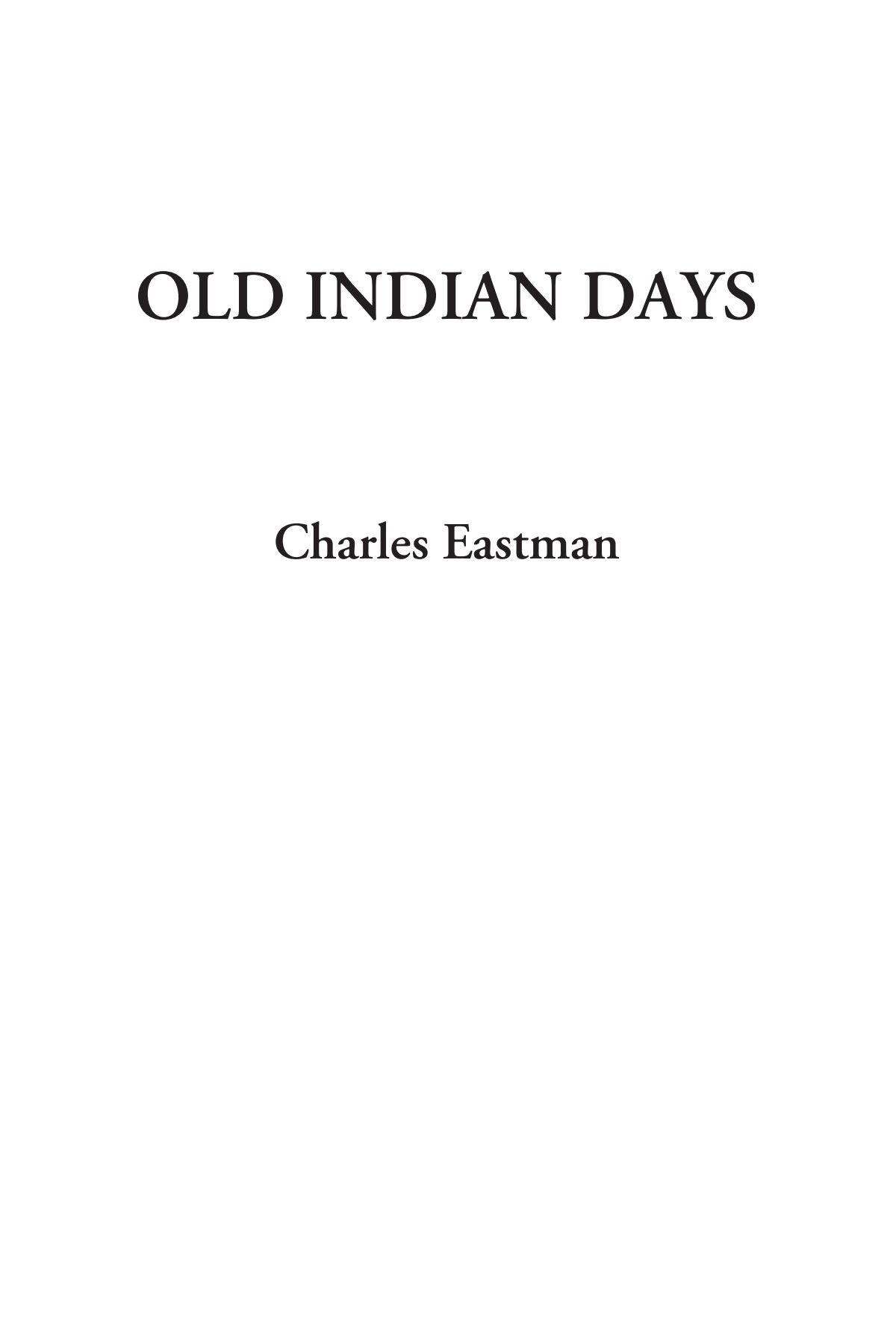 Read Online Old Indian Days pdf