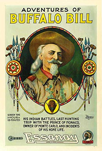 Adventures Of Buffalo Bill Wild West Poster Movie 27x40