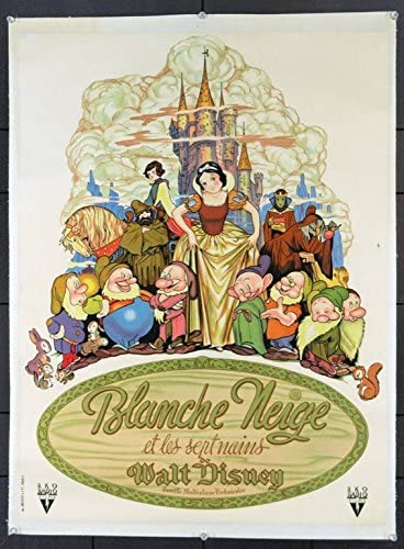 Snow White And The Seven Dwarfs 1937 Original Movie Poster At Amazon S Entertainment Collectibles Store