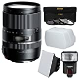 Tamron 16-300mm f/3.5-6.3 Di II PZD Macro Zoom Lens with 3 Filters + Flash + Soft Box + Diffuser Kit for Sony Alpha A-Mount Digital SLR Cameras