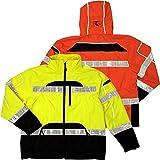 ML Kishigo Brilliant Series Rainwear Jacket, Size: 4X-large/5X-large, Color: Orange