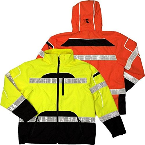 ML Kishigo Brilliant Series Rainwear Jacket, Size: 4X-large/5X-large, Color: Orange