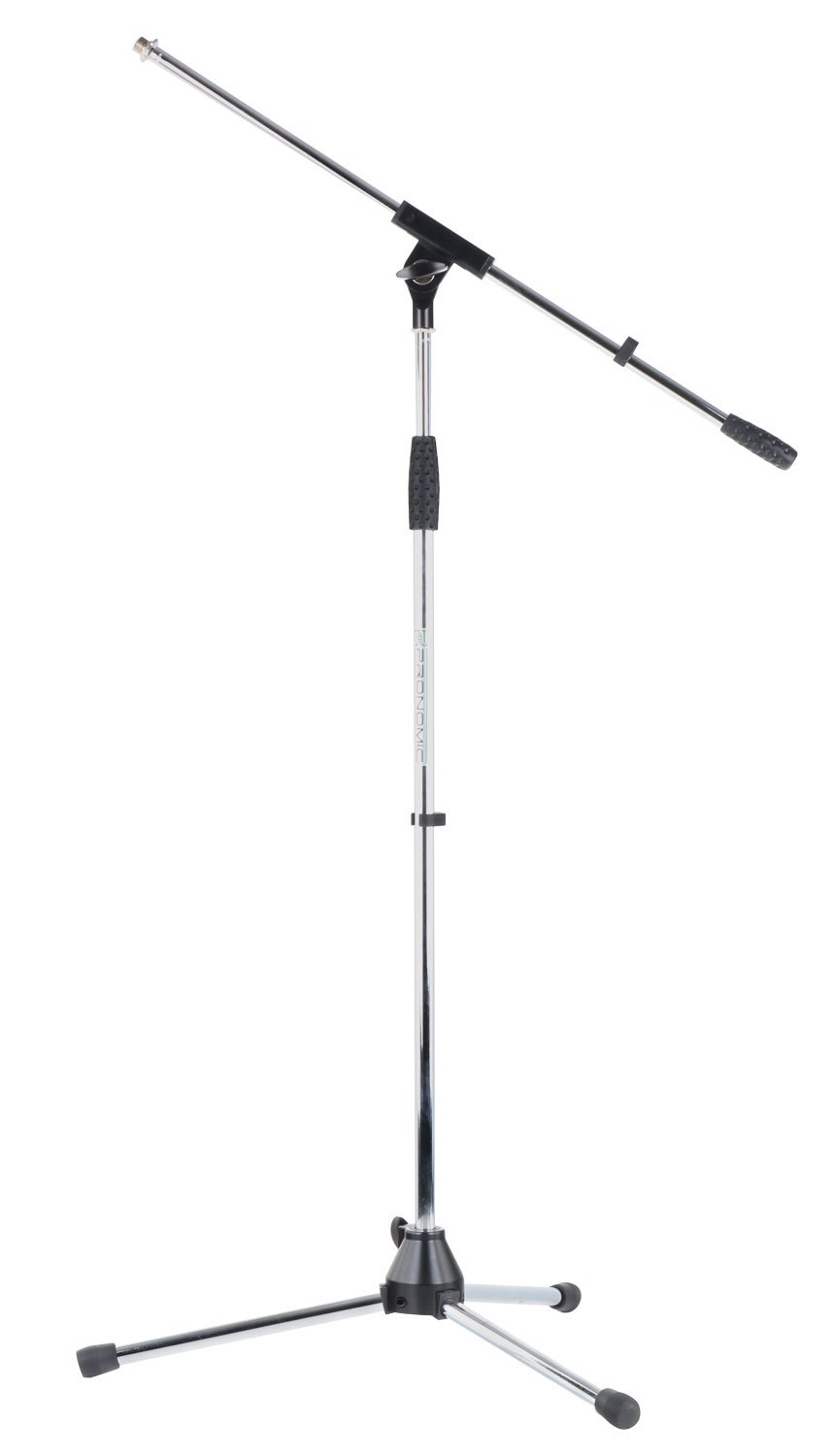 Pronomic MS-25C Microphone Stand Boom (Sturdy 3-legged Boom Stand, Height-Adjustable, Including Adjustment Screw and Cable Clips, Chrome) 00028049
