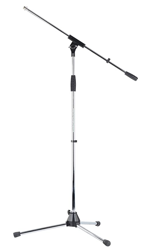 McGrey MBS-01 Mikrofonst/änder mit Galgen und Mikrofonklemme schwarz Schwenkarm, h/öhenverstellbar bis ca. 154 cm, Dreibein, Kabelklemmen, L/änge Galgen ca. 75 cm