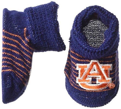 Two Feet Ahead NCAA Auburn Tigers Infant Stripe Gift Box Booties, New Born, ()