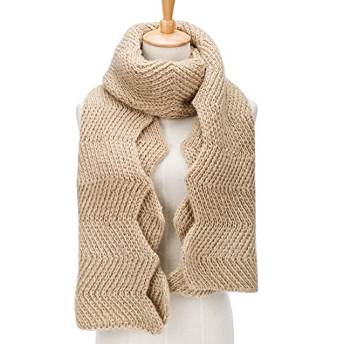 PORPRE Women's Fashion Thick Knit Long Twist Shoulder Scarf Warm Shawl - Off Knock Wholesale Items