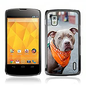 Hot Style Cell Phone PC Hard Case Cover // V0000834 Dog Puppy Pattern // LG NEXUS 4