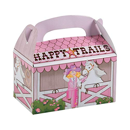 Fun Express Pink Cowgirl Treat Boxes - 12 pc -