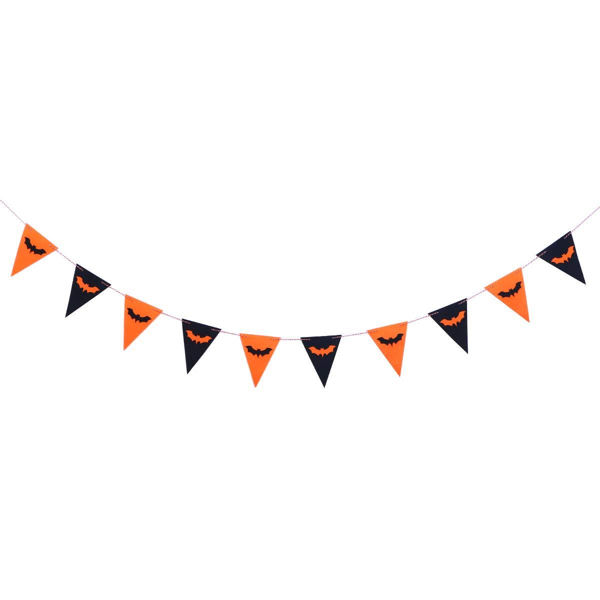 BESTOYARD ハロウィン フェルトクロス 旗 バンティング ガーランド 旗 バナー 屋内 屋外 装飾 フェスティバル パーティー   B07GYLCT7J