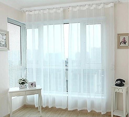 Fertige Fenster Transparent Voile Vorhänge Panel Tüll Vorhänge