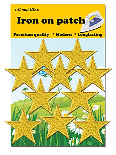 Iron On Patches - Yellow Star Patch 10 pcs Iron On Patch Embroidered Applique - Patches Star Yellow