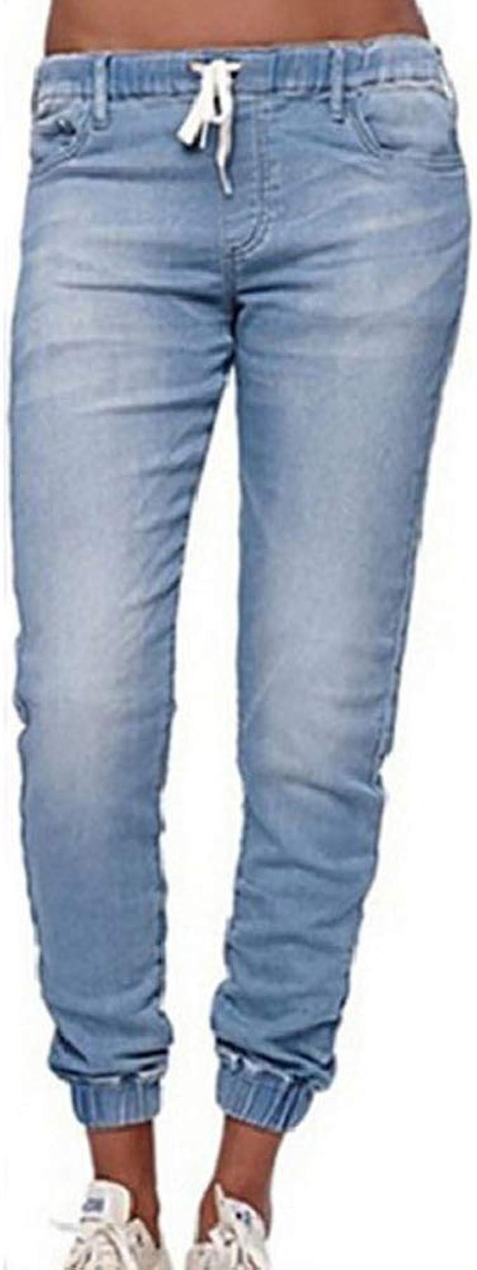 Morbuy Vaqueros Mujer Cintura Alta Talla Grande, Push Up Rotos EláStico Rectos Tejanos Skinny Slim Boot Cut Boyfriend Jeans Acampanados Pantalones