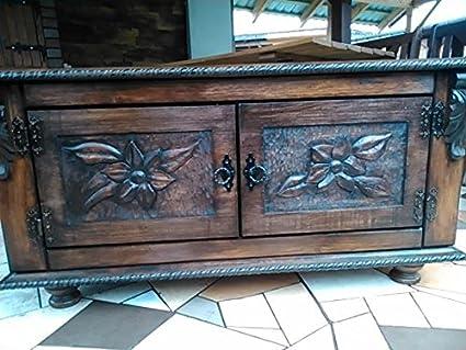 Mesa de centro de madera del tronco baúl de madera del pecho baúl ...