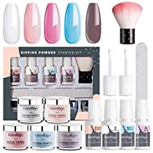 EdenRays Quick Nail Kit with 5 Dipping Powders