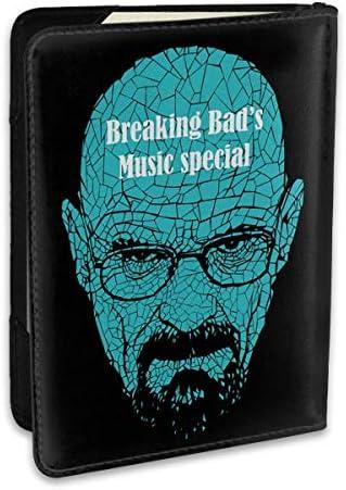 ブレイキング・バッド Breaking Bad パスポートケース メンズ レディース パスポートカバー パスポートバッグ ポーチ 6.5インチ PUレザー スキミング防止 安全な海外旅行用 収納ポケット 名刺 クレジットカード 航空券