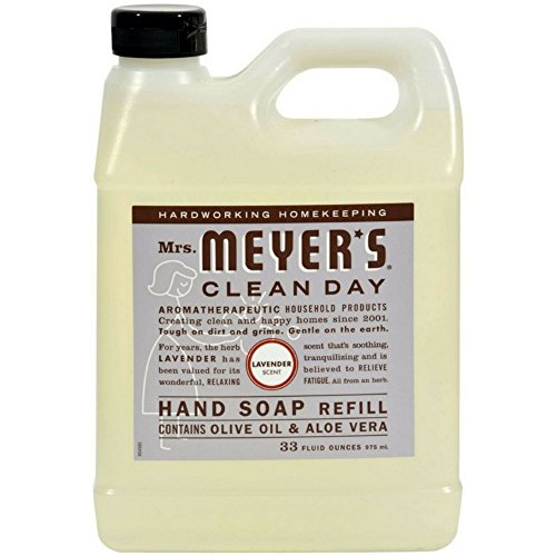 Mrs. Meyers Clean Day Hand Soap Refill, Lavender 33 oz (Pack of 2) by Meyers