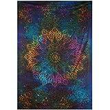 Twin Blue Tie Dye Bohemian Tapestry Elephant Star Mandala Tapestry Tapestry Wall Hanging Boho ...