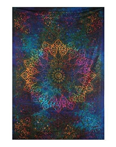 Handicrunch Twin Blue Tie Dye Bohemian Tapestry Elephant Star Mandala Tapestry Tapestry Wall Hanging Boho Tapestry Hippie Hippy Tapestry Beach Coverlet Curtain