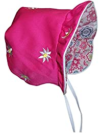 Baby Girls Solid To Print Reversible Sun Bonnet