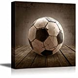 wall26 Goal! Soccer Rustic Square Sport Panel - Futbol - Celebrating American Sports Traditions - Canvas Art Home Decor - 12x12 inches