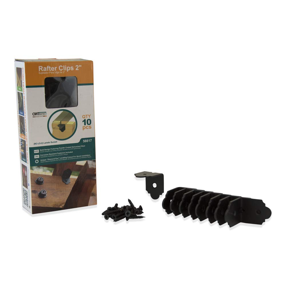 10 per Pack OZCO 56617 Laredo Sunset 2-inch Rafter Clips,