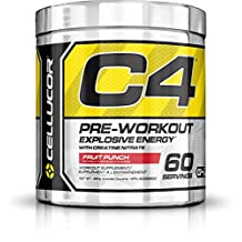 Cellucor C4 Pre-Workout Supplement, Fruit Punch, 60 Servings, 390g