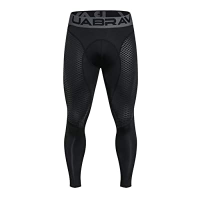 Ohbiger Men's Compression Pants Warm Dry Cool Sports Tights Baselayer Running Leggings Thermal ColdGear Winter at Men's Clothing store