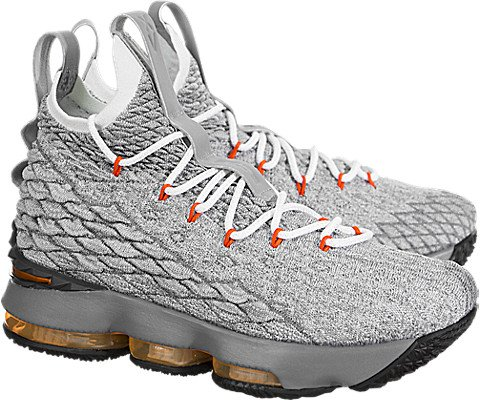 Nike Youth Lebron 15 Boys Basketball Shoes Black/Safety Orange/Wolf Grey 922811-080 Size 5.5