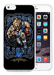 Fashion Style Detroit Lions 01 White iPhone 6 Plus 5.5 Inch TPU Protective Phone Case