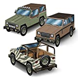 Beistle Club Pack 3-D SUV Centerpieces 3 Styles Per Set, Box Contains 36 Total Centerpieces